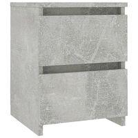 vidaXL Нощно шкафче, бетонно сиво, 30x30x40 см, ПДЧ