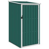 vidaXL Градинска барака, зелена, 87x98x159 см, поцинкована стомана