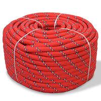 vidaXL Морско въже, полипропилен, 12 мм, 250 м, червено