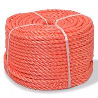 vidaXL Усукано въже, полипропилен, 12 мм, 100 м, оранжево