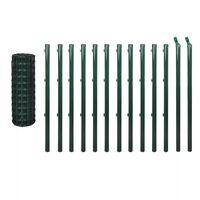 vidaXL Евромрежа, стомана, 25x1 м, зелена