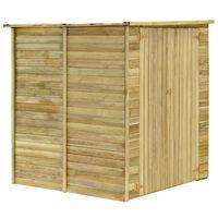 vidaXL Градинска барака, 157x159x178 см, импрегнирана борова дървесина