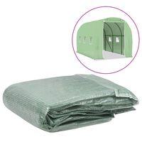 vidaXL Резервно покривало за парник (6,86 м²), 200x343x200 см, зелено
