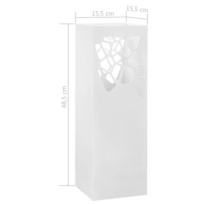 """vidaXL Поставка за чадъри """"Камъни"""", стомана, бяла"""
