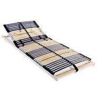vidaXL Подматрачна рамка с 42 ламела, 7 зони, 70x200 см