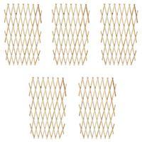 vidaXL Огради хармоника, 5 бр, дървен масив, 180х90 см