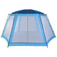vidaXL Палатка за басейн, текстил, 590x520x250 см, синя
