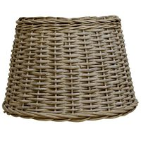 vidaXL Абажур, плетена ракита, 50x30 см, кафяв