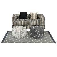 vidaXL Модулен комплект мека мебел, 9 части, текстил, ивици
