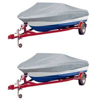 vidaXL Чохли за лодки, 2 бр, сиви, дължина 427-488 см ширина, 173 см