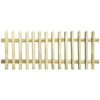 vidaXL Решетъчна ограда, импрегнирано борово дърво, 170x100 см, 5/7 см