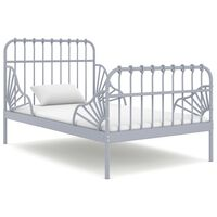 vidaXL Рамка за разтегателно легло, сива, метал, 80x130/200 cм
