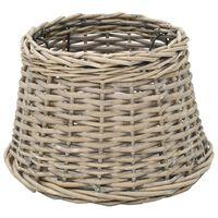 vidaXL Абажур, плетена ракита, 30x20 см, естествен цвят