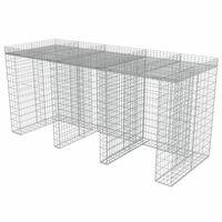 vidaXL Габионна стена за контейнер поцинкована стомана 270x100x130 см